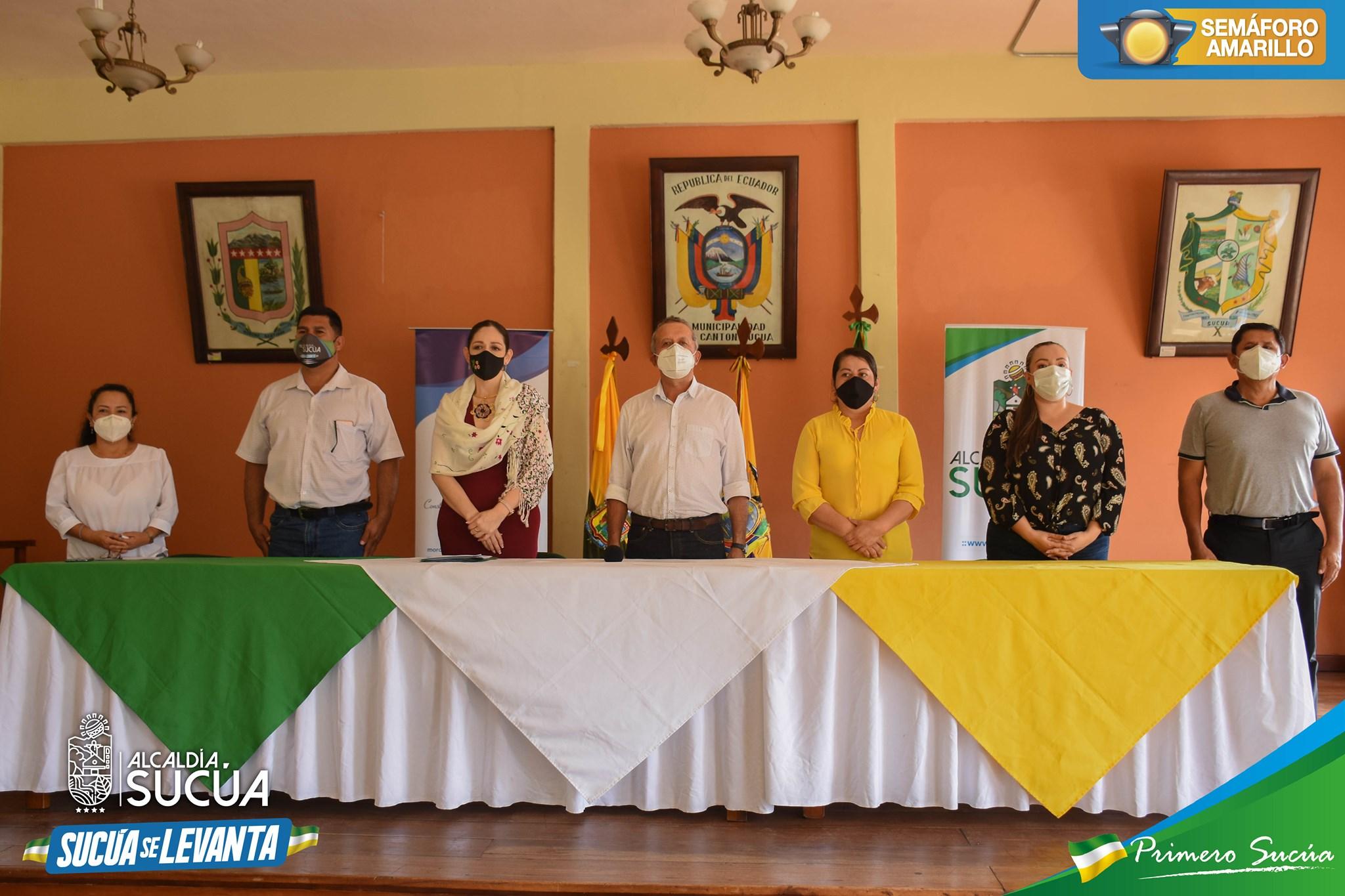 Firma de Carta de Compromiso entre el Gad Municipal del Cantón Sucúa y el Consejo de la Judicatura del Ecuador