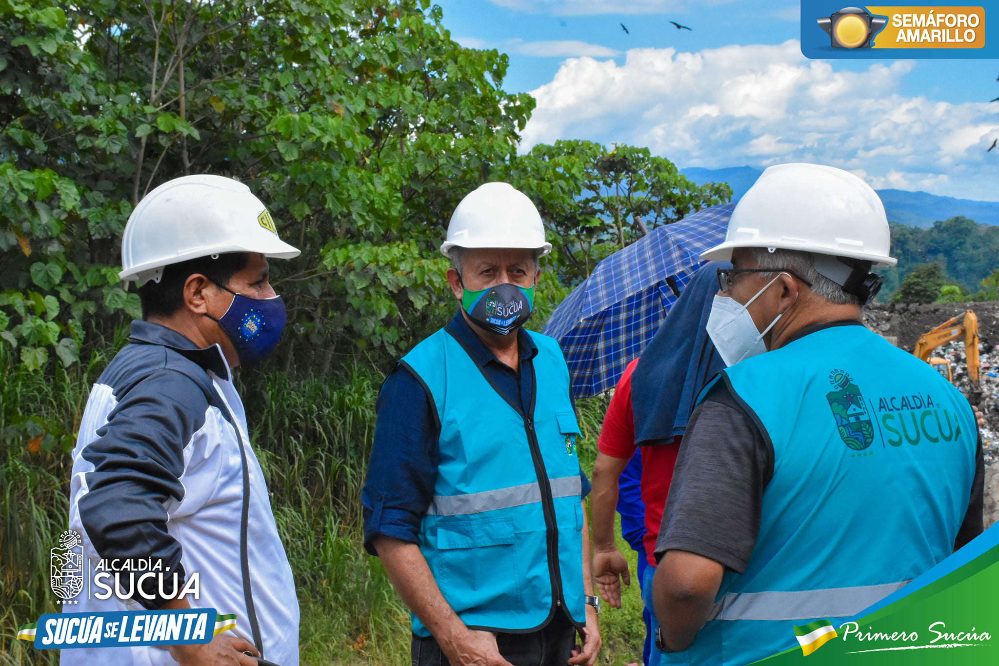 Se realiza inspección de la ejecución del contrato de la primera etapa del relleno sanitario